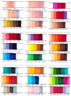 Copic Marker Colour Combinations by Chad73.deviantart.com on @deviantART