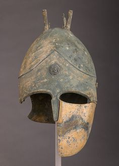Bronze helmet of the Italo-Chalcidian Type, (5th-4th BC) Etruscan, probably from Vulci - The Met