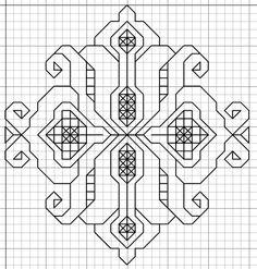 Blackwork Embroidery: Small Motif Pattern