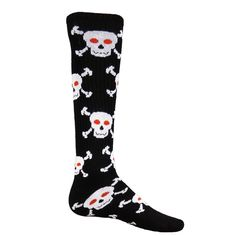 a8bf9b413f3 Red Lion Skulls Skull Pattern Acrylic Athletic Socks ( Black   Pale Pink -  Small )