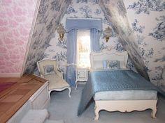 La Grande Maison-The Greenleaf Garfield Dollhouse: The Nursery, The Nanny's Quarter's & a Room for the Little Boy in the Greenleaf Garfield Thumbelina