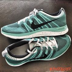 #SkeeLocker 161/365: Nike Flyknit Lunar 1+ Sport Turquoise/Wolf Grey. May be my fav non retro shoe of 2013, too comfortable