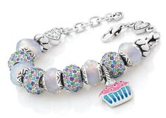 Brighton charm bracelet idea - multi colored spacer minus the cupcake charm