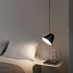 Another great option for nighttime reading in bed is a pendant light that tilts. http://www.ylighting.com/blog/on-trend-pendants-lights-in-the-bedroom/