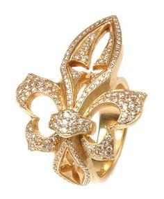 NEW ORLEANS SAINTS Fleur De Lis Ring