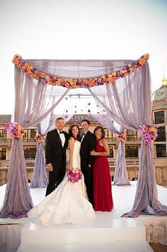 love the chuppah! Flowy fabrics with a floral touch!