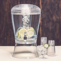 MUST HAVE! 3+Gallon beverage dispenser with enclosed ice infuser