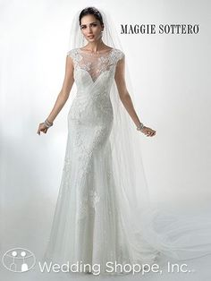 Maggie Sottero  Bridal Gown Savannah Marie / 4MW060 love the lace and beading on this dress