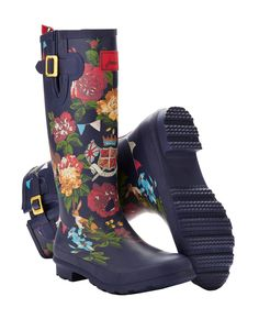 Jubilee Wellyprint Womens Print Rain Boot Wellies | Joules US. Need these.