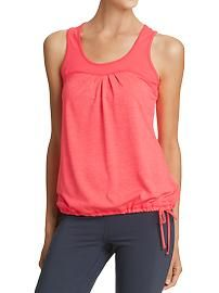 Women's Active Tie-Waist Bubble Tanks