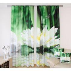 Zelený záves - Lekno Drapes Curtains, Candles, Shower, Table Decorations, Prints, Furniture, Home Decor, Rain Shower Heads