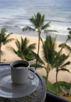 Good morning and Aloha from Hawaii! We hope your morning cup of coffee can look like this sometime soon. Discover Hawaii Tours's photo.