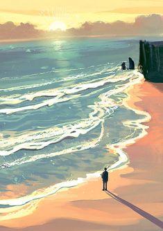 Fantasy Landscape, Landscape Art, Fantasy Art, Fantasy Concept Art, Wallpaper Animes, Animes Wallpapers, Scenery Wallpaper, Environmental Art, Anime Scenery