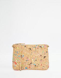 Street Level Cork Look Clutch Bag