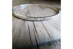 Bangle with engraving by thula