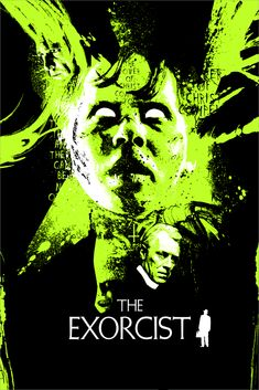 The Exorcist by James Rheem Davis x screen prints, green glow-in-the-dark variant edition of 40 and purple glow-in-the-dark variant edition of Available HERE. Part of the Quattro 3 art. Iconic Movie Posters, Horror Movie Posters, Cinema Posters, Iconic Movies, Horror Movies, Classic Movies, Film Posters, Epic Movie, Love Movie
