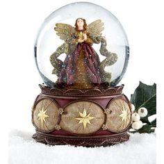 Musical Snow Globes | Holiday Lane Musical Snow Globe, Angel - Polyvore