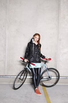 Urban Legend is a new Hungarian brand of weatherproof cyclewear inspired by the experiences of the designer Zsófi Geréby. I love that this line is specific to people who ride bikes!