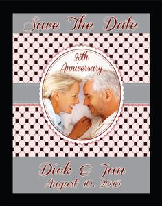 25th Anniversary Save The Date Magnets or by TreasuredMoments1980, $54.95