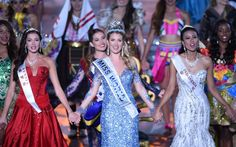 Mireia Lalaguna Royo, a 23-year-old professional model from Barcelona, wins   the beauty pageant in Sanya, China. Miss England failed to make the top 20