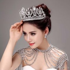 Bridal Hair Comb 2015 Luxurious Stunning Bridal Jewelries Sets Of Tiaras And Shoulder Chain Bridal Wedding Accessories Ah07 Hair Accessories Headband From Engerlaa, $125.66| Dhgate.Com