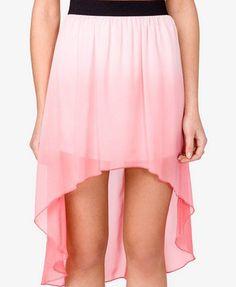 #Forever21                #Skirt                    #Ombr? #High-Low #Skirt #FOREVER #2030282260        Ombr? High-Low Skirt | FOREVER 21 - 2030282260                                http://www.seapai.com/product.aspx?PID=110117