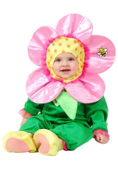 When she goes in this flower costume, she'll feel like a true Spring bloomer! This Halloween, she is going to become a Spring icon with this infant and toddler size costume. Baby Skunk Costume, Baby Owl Costumes, Cute Baby Halloween Costumes, Toddler Girl Halloween, Theme Halloween, Toddler Costumes, Halloween Nails, Holiday Costumes, Halloween 2013