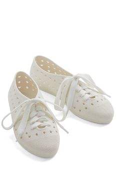 Tremendous Touch Flat in Off-White, @ModCloth