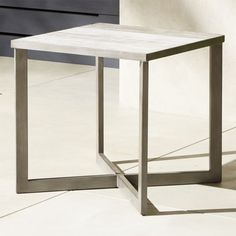 Faux Bois Outdoor Ceramic Tile Table + Reviews | CB2