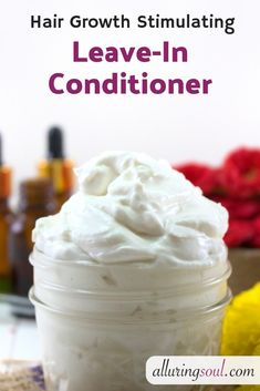 DIY Hair Growth Stimulating Leave-In Conditioner - Hair Care Aloe Vera Gel For Hair Growth, Hair Growth Tips, Hair Mask For Damaged Hair, Diy Hair Mask, Hair Masks, Frizzy Hair, Diy Hair Loss Shampoo, Diy Conditioner, Hair And Beauty