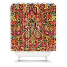 DENY Designs Home Accessories | Aimee St Hill Paisley Orange Shower Curtain