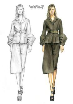 Prada fall/winter 2013 fashion illustration