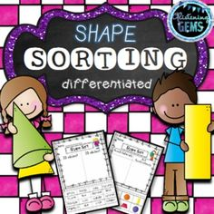 Shapes - Sort 2D shapes and 3D shapes in a variety of ways. The differentiated sorting activities reinforces shape recognition, curved & straight edges, corners, shapes that roll and stack, quadrilaterals and real life 3D objects.  This shape sorting pack focusses on both 2D and 3D shapes and it includes differentiated worksheets to cater for the needs of your students.