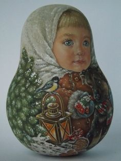 Author's 1 kind russian roly poly nesting like reborn baby dolls Artist Usachova in Spielzeug, Puppen & Zubehör, Holzpuppen | eBay