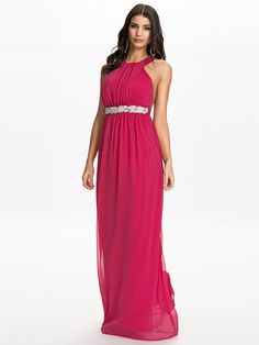 Open Back Maxi Dress - Nly Eve - Cerise - Partykleider - Kleidung - Damen - Nelly.de Mode Online