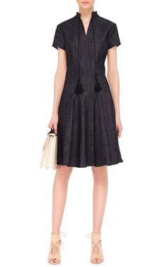 Tasseled Denim Dress by DEREK LAM Now Available on Moda Operandi