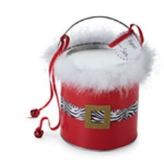 Duck Tape Santa Suit Pail - Bethany Sloan we can do this! All Things Christmas, Holiday Fun, Christmas Holidays, Christmas Yard, Christmas Stocking, Christmas Ornament, Christmas Projects, Holiday Crafts, Christmas Ideas
