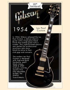 Designed to look great with a tuxedo, learn more about the Gibson Les Paul Custom's history (The Fretless Wonder). Get the latest news bits on music instruments, artists, and the industry at the Hub from Musician's Friend. Music Guitar, Cool Guitar, Acoustic Guitar, Guitar Wall, Epiphone Les Paul, Les Paul Custom, Gibson Les Paul, Gold Top, Beatles