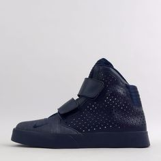 Nike Flystepper 2K3 Mens Hi Top Trainers Shoes Velcro Strap Triple Navy #Nike…