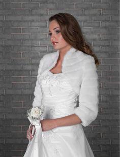 Wedding Ivory Faux Fur Shrug Bridal Bolero by YourWeddingMall, $39.00