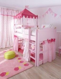 Think this is the only way that we can fit a princess castle bed in the space available Cool Kids Bedrooms, Big Girl Bedrooms, Kids Bedroom Sets, Little Girl Rooms, Girls Bedroom, Kids Room, Princess Bunk Beds, Princess Bedrooms, Princess Room