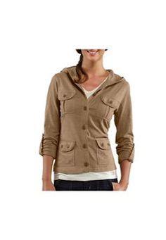 $54.99 Carhartt Womens WK136DOT Hooded Knit Dark Oat Jacket| http://camouflage.ca