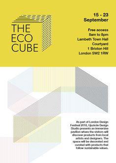 The Eco Cube by Upcircle Design Studio London, London Design Festival, Slow Design, Leaflet Design, Circular Economy, Design Movements, Graphic Design Studios, The Visitors, Sustainable Design