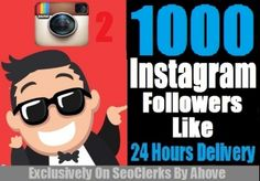 Get 1000 Instagram Follower OR 1000 Like In Your P... for $1