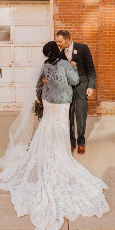 Hottest Trend 2020/2021: 18 Wedding Jackets ❤ wedding jackets denim with stickers fall martinaliana #weddingforward #wedding #bride