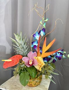 Fort Lauderdale Top Quality Florist: A Marc In Design -Fort Lauderdale, FL Same Day Flower Delivery Hanging Flowers, Flower Vases, Flower Arrangements, Prom Flowers, Wedding Flowers, Tropical Centerpieces, Dish Garden, Order Flowers Online, Same Day Flower Delivery