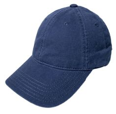 Blank Heavy Washed Cotton Cap - Navy ce83867f5ed2