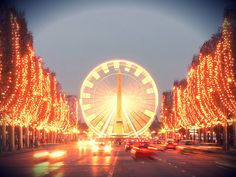 #Champs #Elysee during #Christmas, #Paris    © David Monniaux, Wikipedia FR
