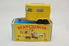 No.43 Pony Trailer w/Ponies & Original Box by Matchbox Lesney England 60's toy Car Great Gift Idea Stocking Stuffer for him by RememberWhenToys on Etsy