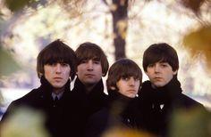 #BeatlesArchive 1964. Hyde Park, London. Photo shoot for Beatles For Sale.